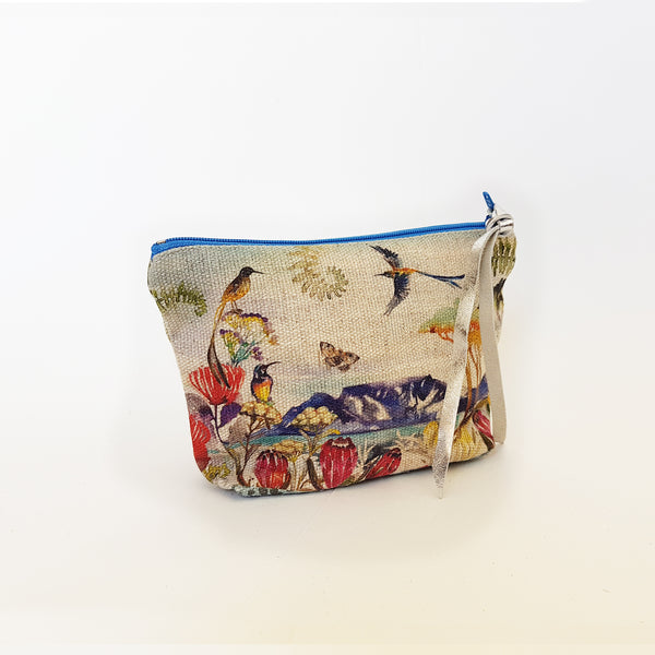 Zip pouch with Table Mountain print