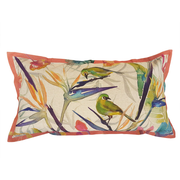 Strelitzia Cushion Cover (Large Linen-cotton blend)
