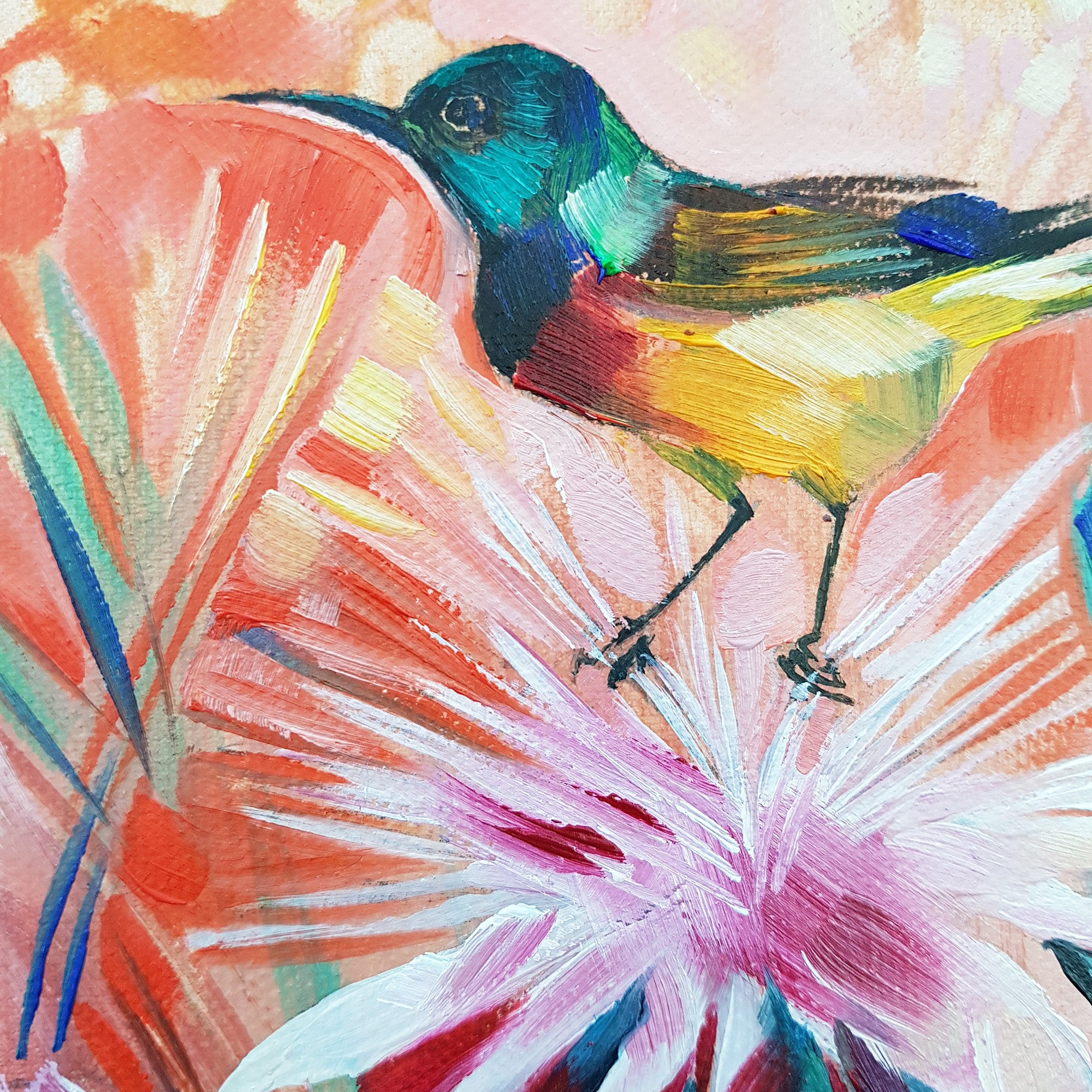 Sunbird Mini oil-on-canvas