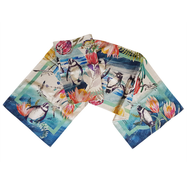 Beach Penguin Table Runner