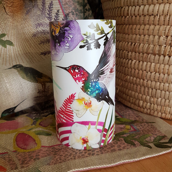 Hummingbird Candle Shade