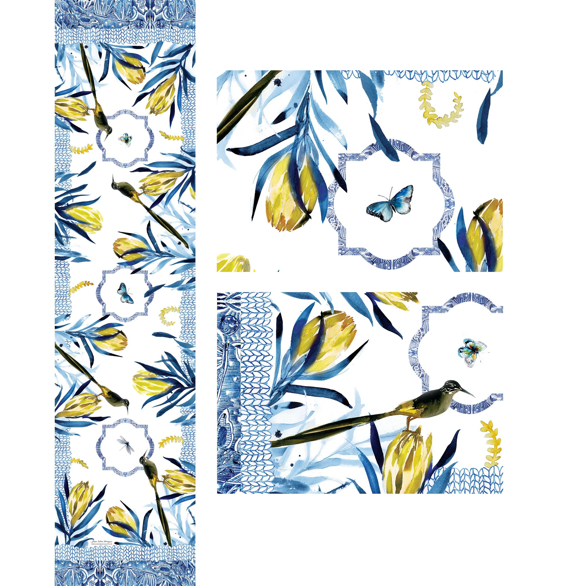 Yellow Protea Table Runner