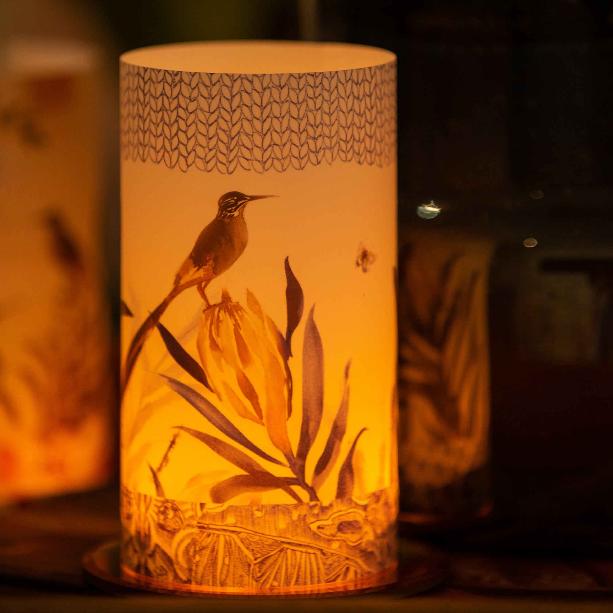 Yellow Protea Candle Shade
