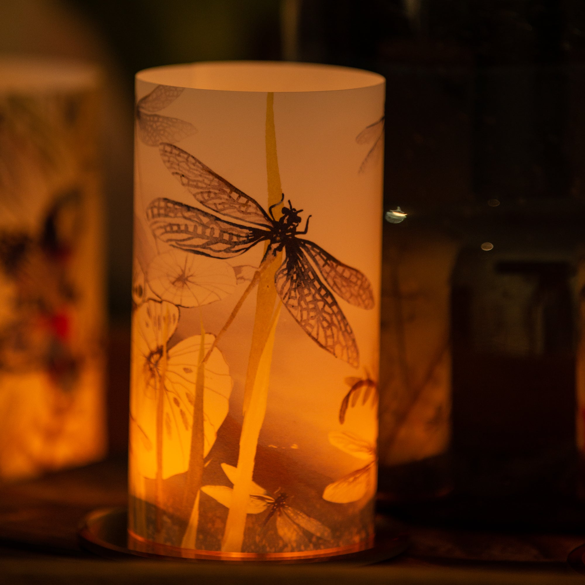 Dragonfly Candle Shade