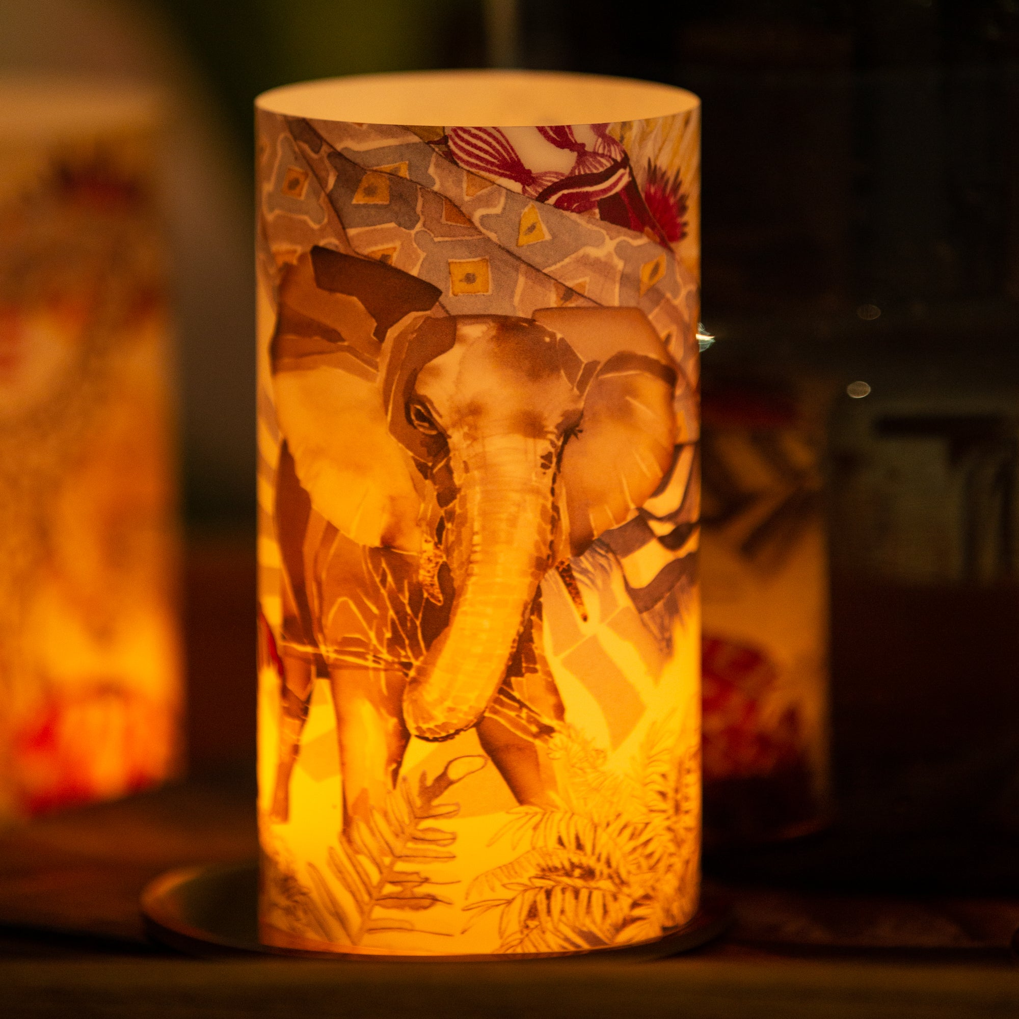 Elephant Candle Shade