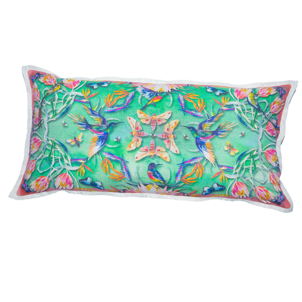 Paradise Cushion Cover (Large – Belgian linen)