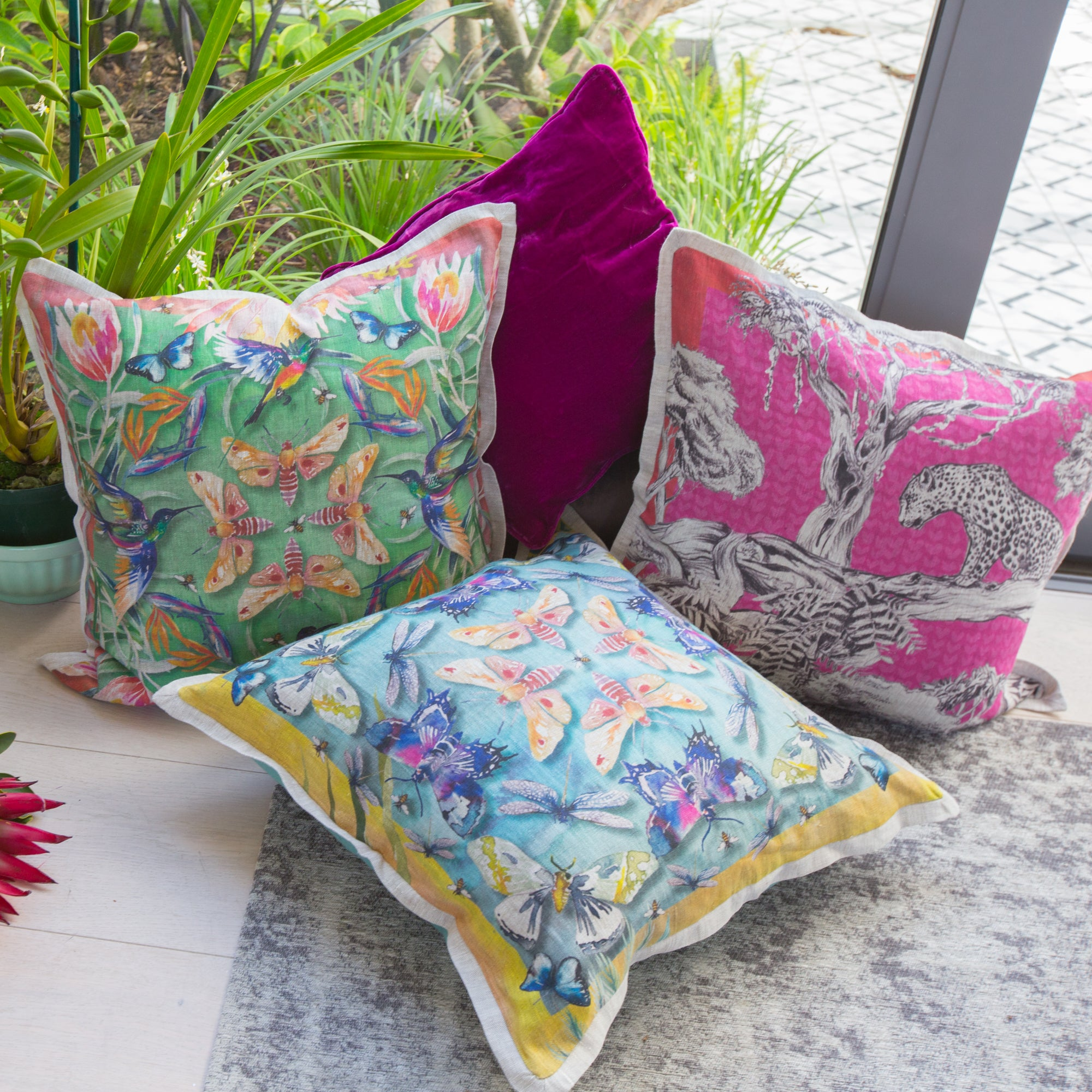Moths Cushion Cover (Standard)