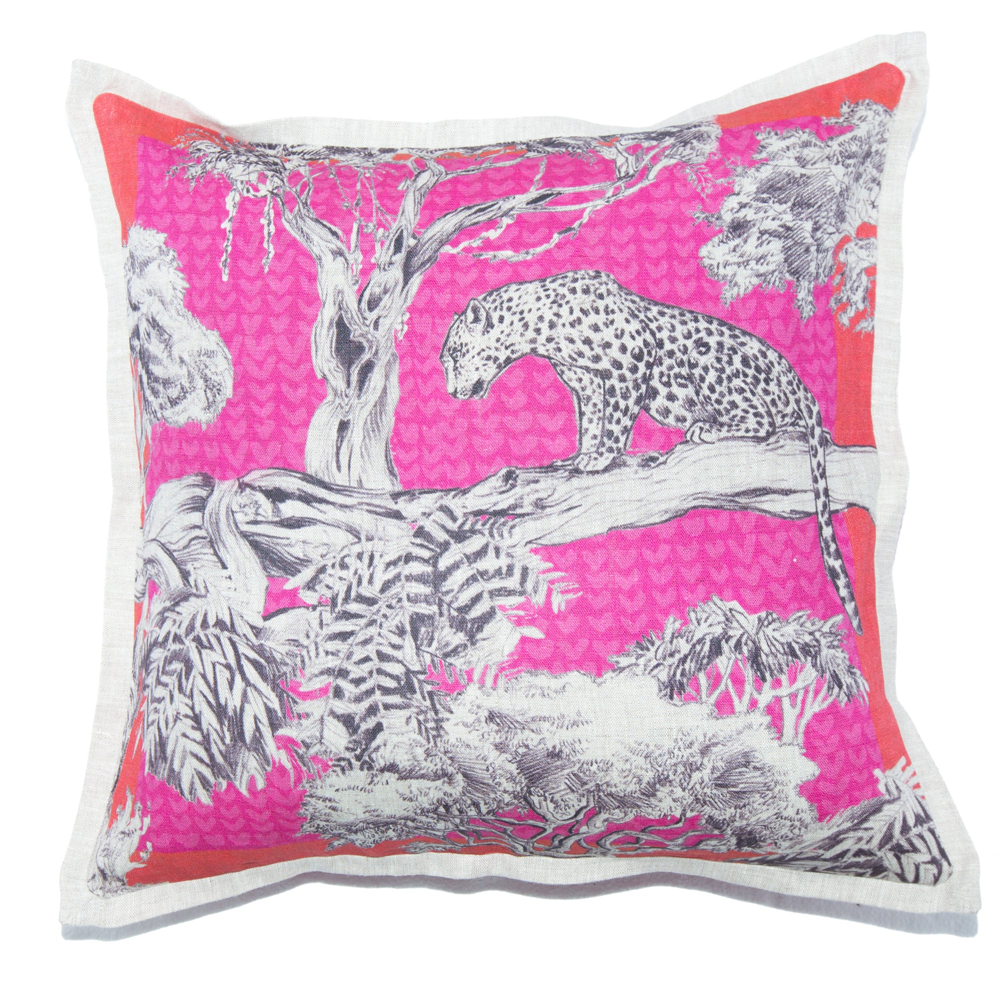 Pink Leopard Cushion Cover Standard