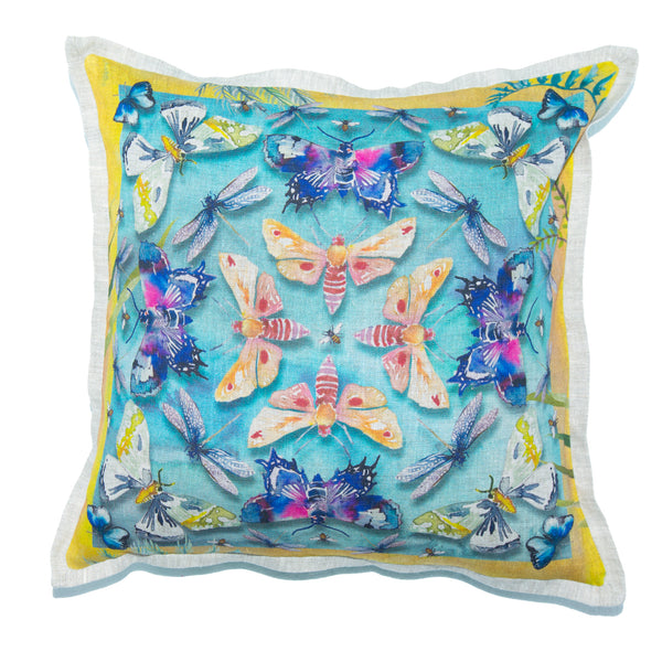 Moths Cushion Cover (Standard – Belgian linen)