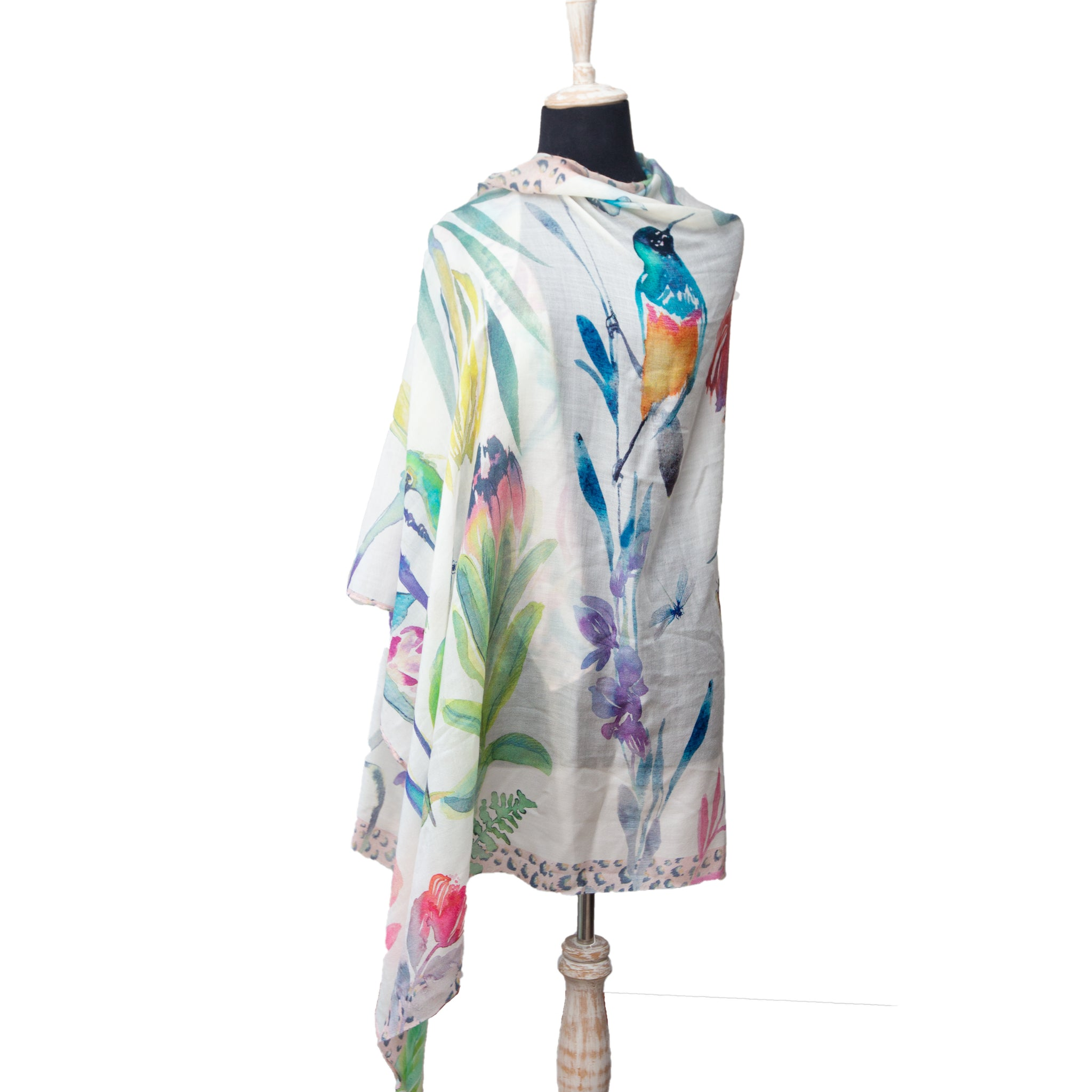 Colour Fynbos Fine Wool Scarf