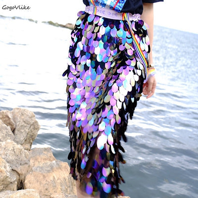 High Waist Skirt Feminino Sparkling party Skirts Korean Style LT623S50