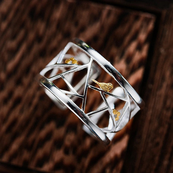Lotus Fun Real 925 Sterling Silver Paper-cut Design Ring - flipkarto