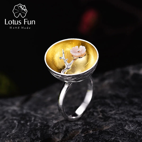Sterling Silver The Aroma of Wintersweet Ring - flipkarto
