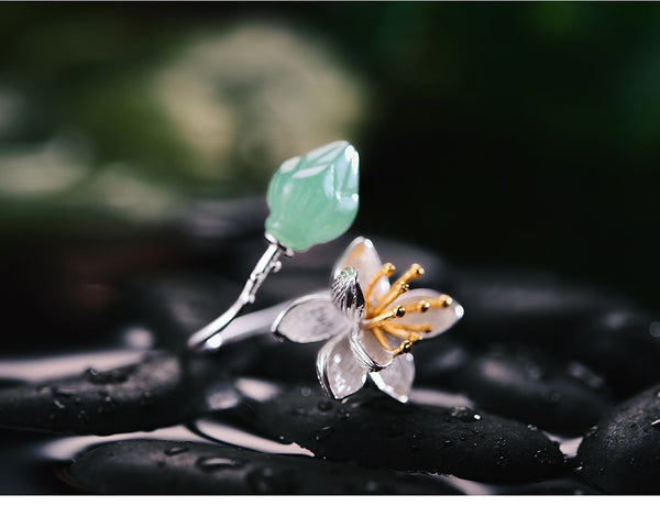 Lotus Fun Real 925 Sterling Silver Lotus Whispers Ring - flipkarto