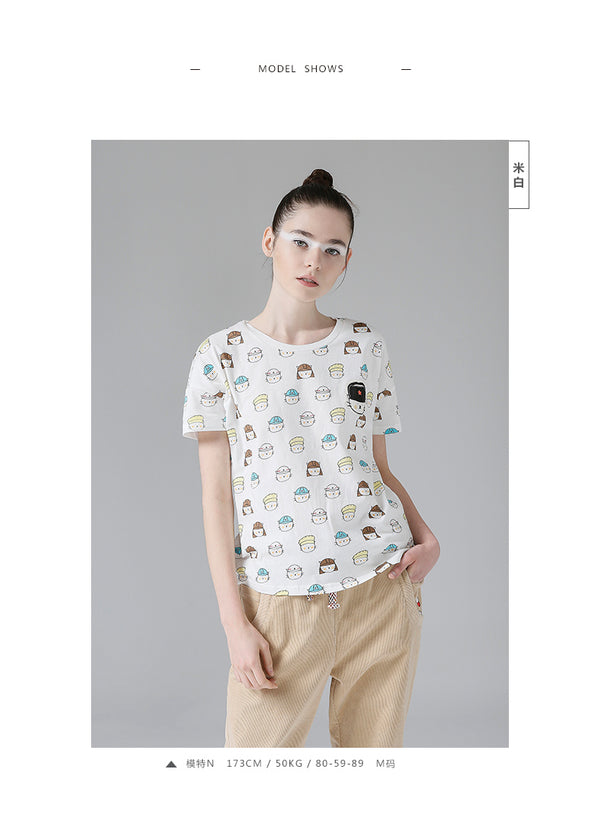 Fashion Appliques Character Printed Summer Cotton T-shirt - flipkarto