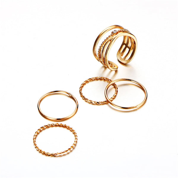 Fashion Gold Color X Knuckle Rings - flipkarto