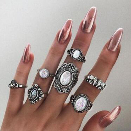 Carved Knuckle Midi Ring - flipkarto
