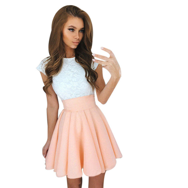 Cute Lace Mini Dress - flipkarto