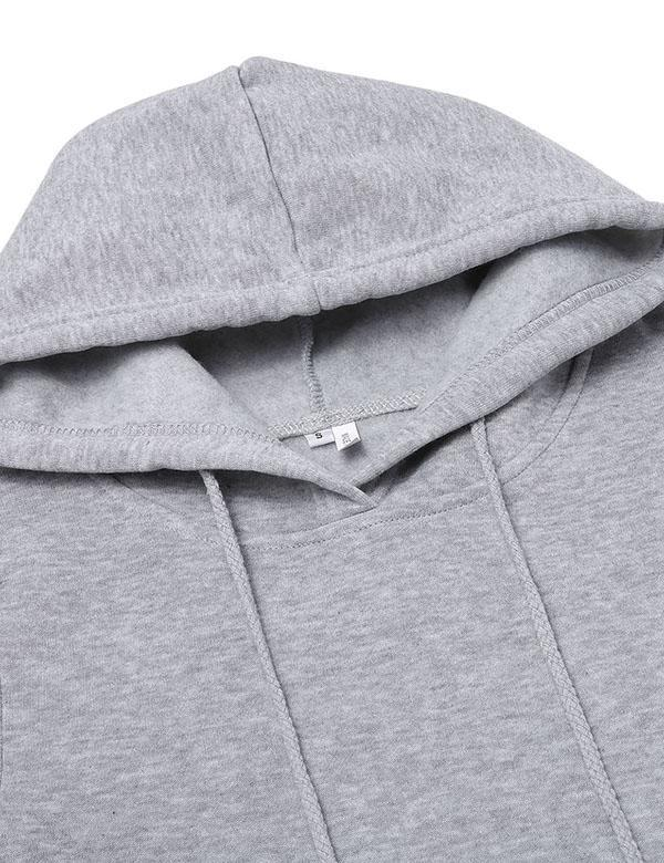Hooded Full Drawstring Sweatshirt - flipkarto