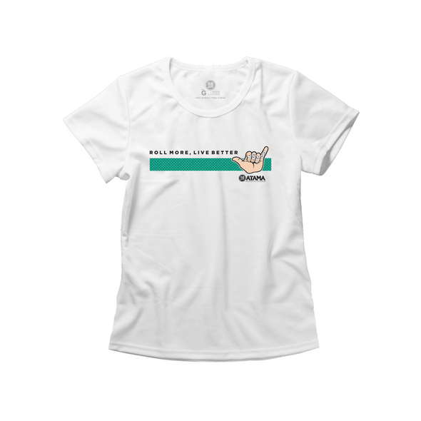 Womens Live Better Tee - White