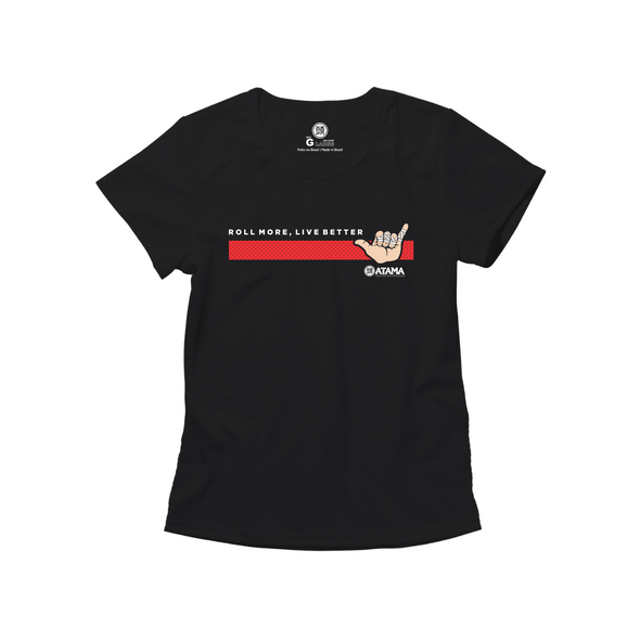 Womens Live Better Tee - Black