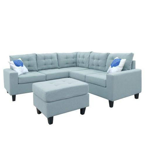 "Image of Line-Like 82.7""x 82.7"" Symmetrical Sectioanl Sofa with Ottoman"