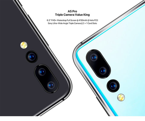 Android 9.0 Octa Core 6.3' FHD+ Waterdrop 16MP Triple Camera