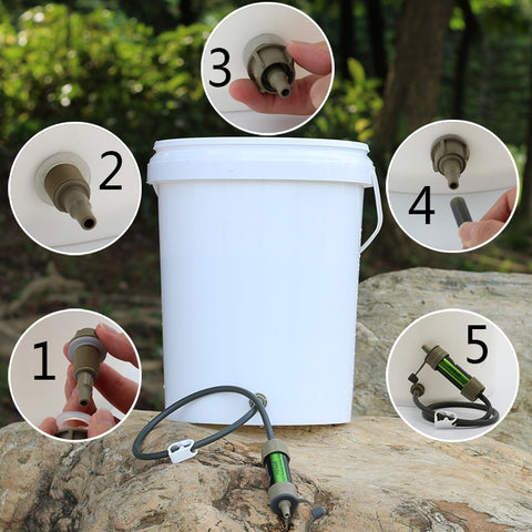 Camping Emergency Water purification straw