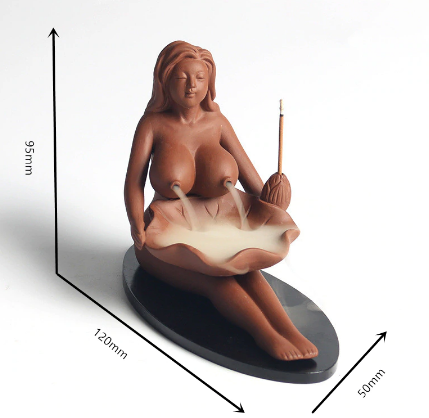 Image of Maiden Clay Backflow Incense Burner