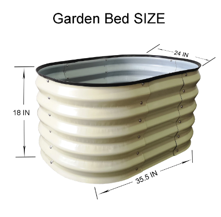 Image of Metal Raised Herbal Garden Bed