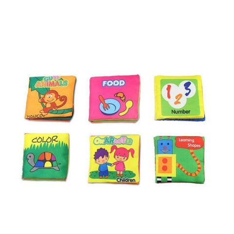 Baby Book - Soft Cloth Rustle Sound Educational Baby Books