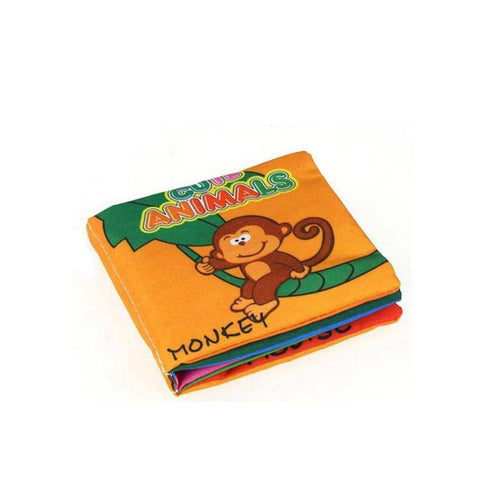 Image of Baby Book - Soft Cloth Rustle Sound Educational Baby Books