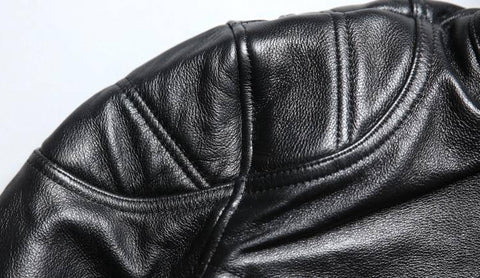 Image of Biker Jacket - Cool Skull Genuine Leather Motorcycle Biker Jacket.