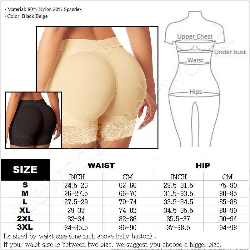 Body Shaper - Womens Padded Underwear Panties Body Shaper | Butt And Hip Booty Enhancer