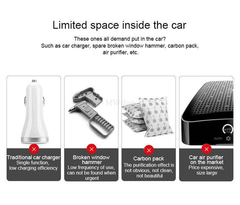 Image of Car Air Purifiers - Car Air Purifier With Ionizer Function