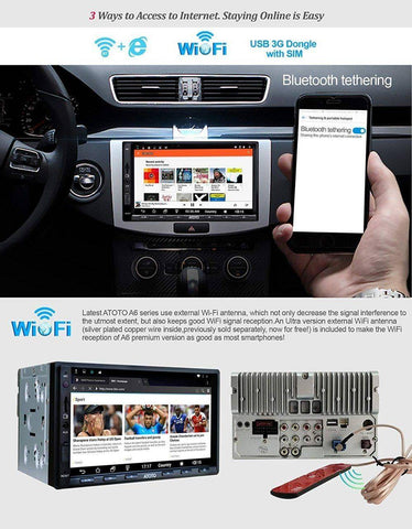 Double din Android Car GPS Navigation Stereo Player