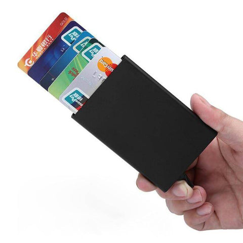 Image of Card & ID Holders - Auto Slide ID Cash & Credit Card Holder | RFID Block Wallet