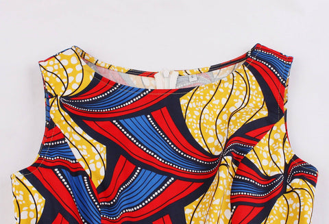 Image of Casual Dress - African Print Casual Dress For Women