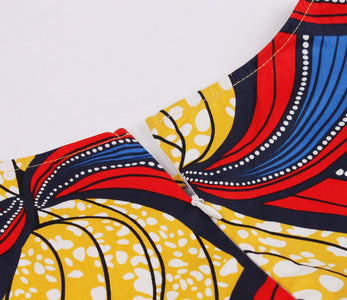 Casual Dress - African Print Casual Dress For Women