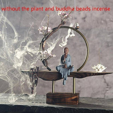 Image of Decoration - Zen Style Buddha Incense Burner | Smoke Backflow Cone Incense Furnace