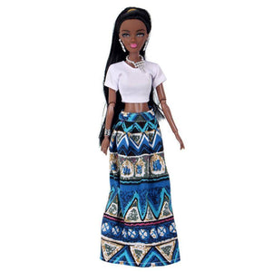 Beautiful Black Mothers Children's Toy Dolls