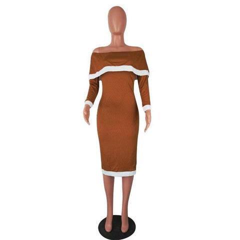 Image of Dresses - Autumn/Winter  High Quality Slim Temperate Sexy Fashion Women Dress | Full Sleeve