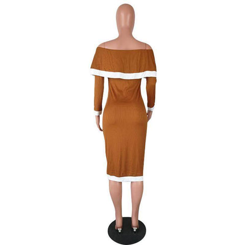 Dresses - Autumn/Winter  High Quality Slim Temperate Sexy Fashion Women Dress | Full Sleeve