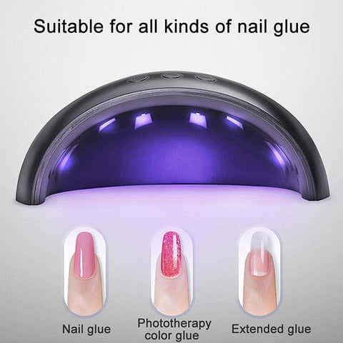 Image of Gel Curer - Panda Professional LED UV Nail Polish Gel Curer |  Smart Sensor Light Curing Manicure Machine 36W