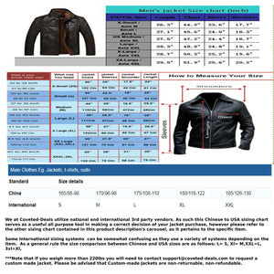 Genuine Leather Coats - Mens Shearling Leather Jacket | Cracked Texture