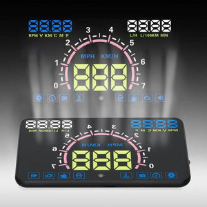 Head-up Display - MPH Overspeed Warning Windshield Projector Alarm System