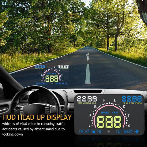 Image of Head-up Display - MPH Overspeed Warning Windshield Projector Alarm System