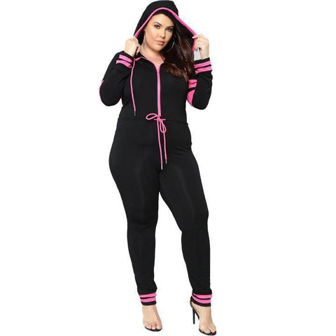 Jumpsuits - Hooded Long Sleeve Sexy Full Bodysuit One Piece Romper