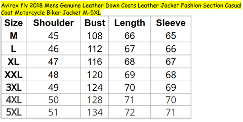 Image of Leather Jacket - AvirexFly 2018 Men's Genuine Leather Down Coats