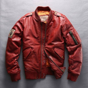 AvirexFly 2018 Men's Genuine Leather Down Coats